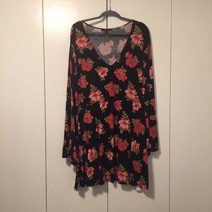 Forever21+ Bell Sleeve Dress